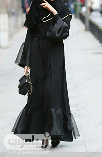 مدل مانتو مشکی دخترانه با طراحی جدید و خاص