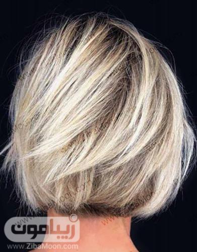 مدل مو کوتاه ساده و زنانه با رنگ مو بلوند