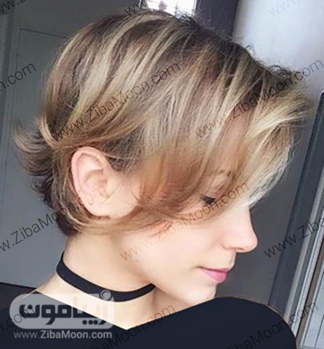 مدل مو کوتاه با قسمت جلو موی بلندتر