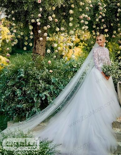 کیارا فراگنی با لباس عروس
