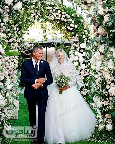 کیارا فرگنی و پدرش در روز عروسی