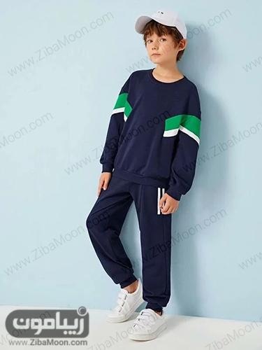 ست لباس اسلش سورمه ای و سبز برای پسربچه ها