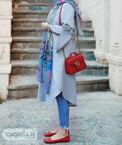 مدل مانتو بهاری دخترونه با مدل آستین شکیل و زیبا برای عید 99