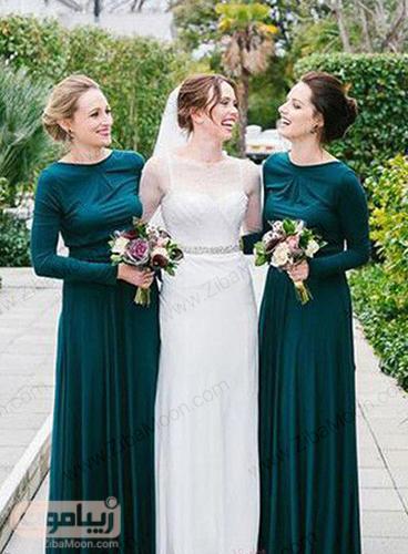 ساقدوش عروس با لباس سبز