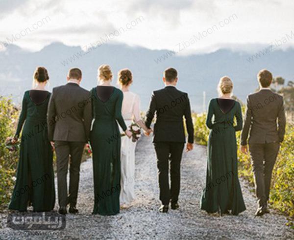 همراهی ساقدوش ها با عروس و داماد