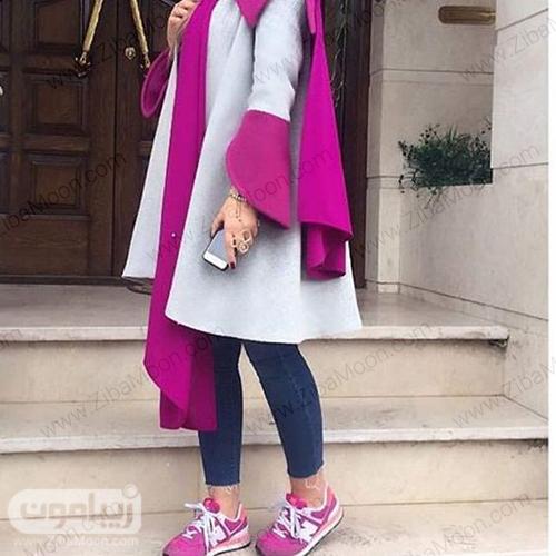 مدل مانتو توسی و بنفش جذاب برای عید 99