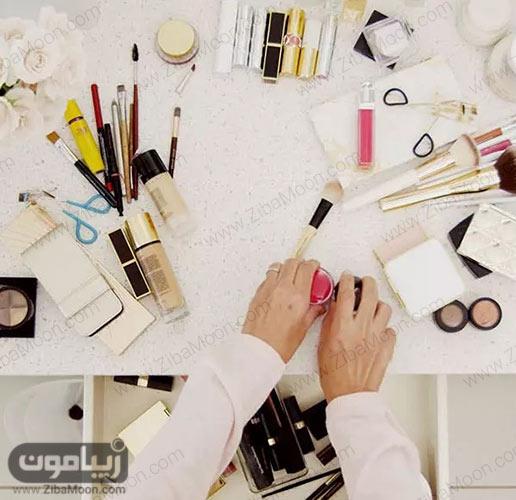 , چیدمان لوازم آرایش + نکات و ایده های کاربردی