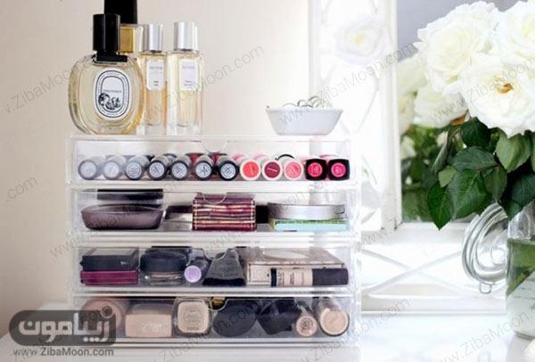 قفسه های شفاف برای لوازم آرایش