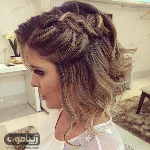 بافت جلو مو برای موهای کوتاه