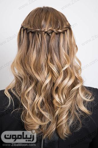بافت مو آبشاری ساده