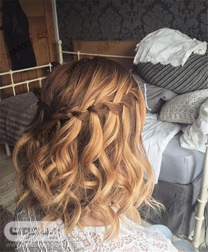 بافت مو آبشاری برای موهای کوتاه و فرفری