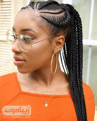 بافت مو تابستانی و زیبا به سبک آفریقایی