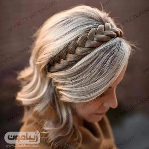 بافت مو تل مانند روی موهای کوتاه