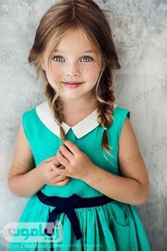 مدل بافت مو دوتایی ساده برای بچه