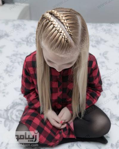 مدل بافت مو متفاوت و مجلسی برای بچه ها