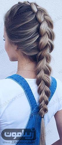 بافت مو هلندی زیبا و ساده برای موی بلند
