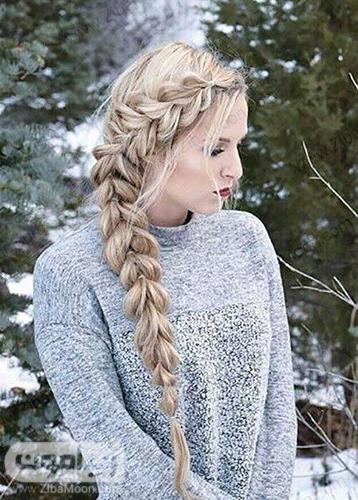 بافت مو هلندی یکطرفه برای موهای بلند