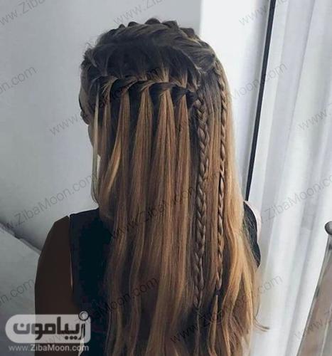 مدل بافت مو آبشاری دو طرفه زیبا و خاص