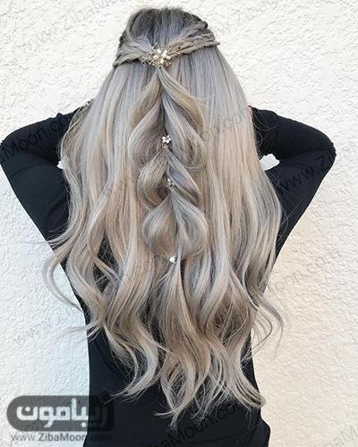 بافت مو روی موی بلند