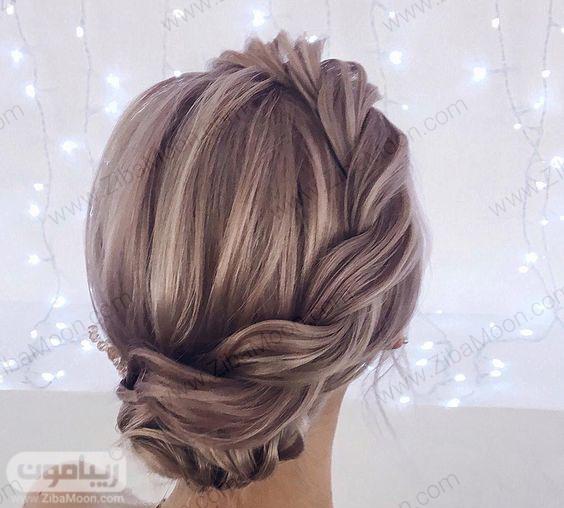 مدل شینیون جذاب با بافت مو