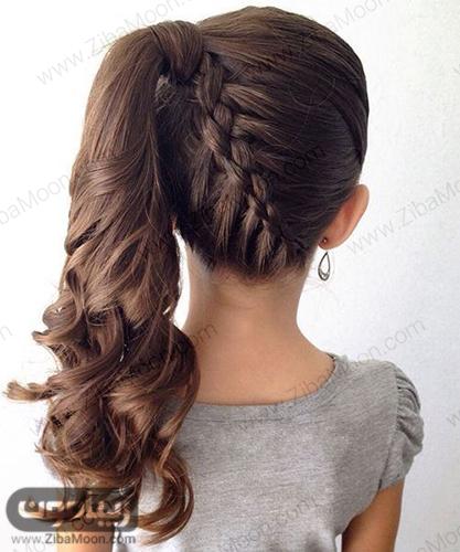 مدل مو دم اسبی با بافت مو در پشت سر