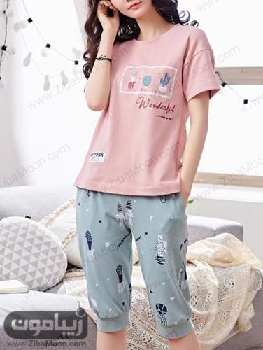 مدل تی شرت و شلوارک دخترونه