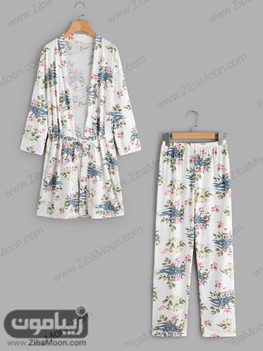 لباس خانگی زنانه گلدار و شیک