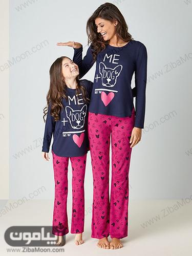 مدل لباس خانگی ست برای مادر و دختر