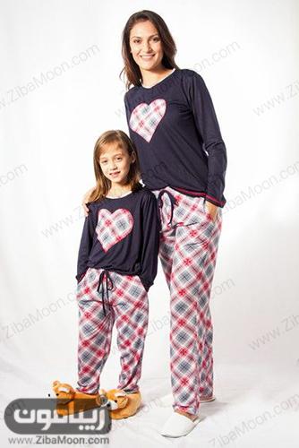 ست لباس خونگی زشیک و زیبا برای مادر و دختر زیبا