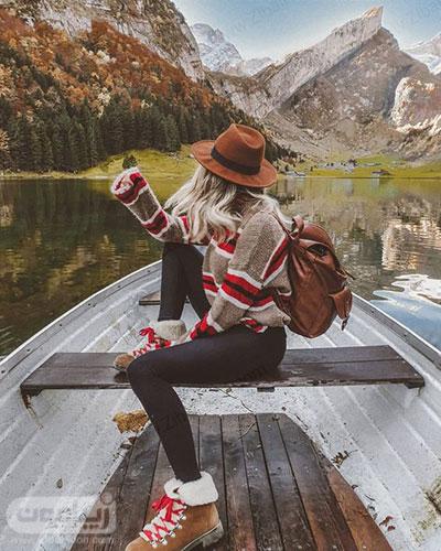 عکس دختر در طبیعت پاییزی برای پروفایل
