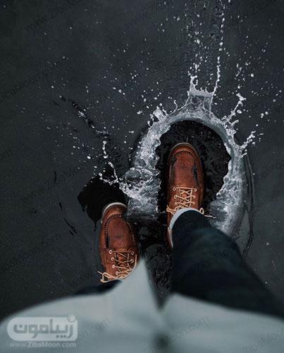 تصویر پروفایل خاص در هوای پاییزی و بارانی
