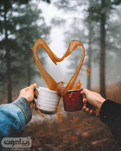 عکس پروفایل عاشقانه خاص با فنجان قهوه