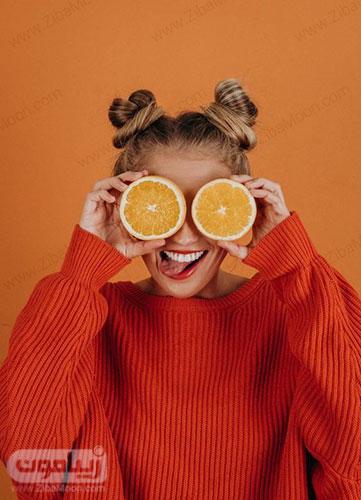 پروفایل دخترونه شیک با پرتقال