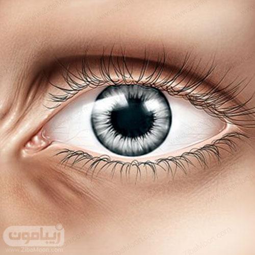 رنگ چشم خاکستری