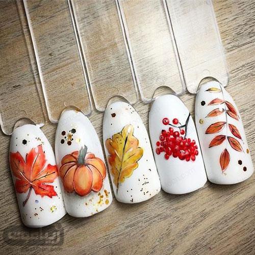 چند نمونه دیزاین ناخن جدید برای پاییز99