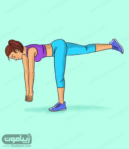 تمرین ورزشی ددلیفت با یک پا