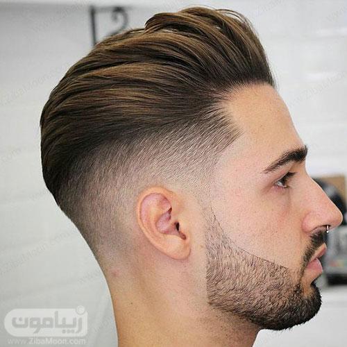 مدل مو مردانه سایه روشن شیک و جذاب با ریش سایه دار