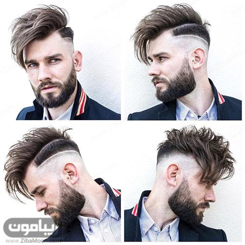 هیرکات خاص و جذاب مردانه برای موهای بلند
