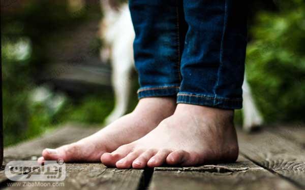 گرم شدن کف پا