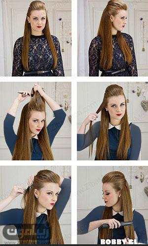 آموزش مدل مو ساده و اتو شده برای جشن و عروسی