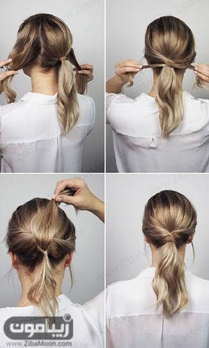 آموزش مدل مو ساده دخترانه برای جشن و مهمانی