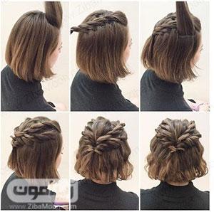 آموزش درست کردن مو کوتاه در منزل