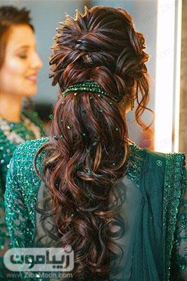 مدل مو بلند و باز برای نامزدی و عقد