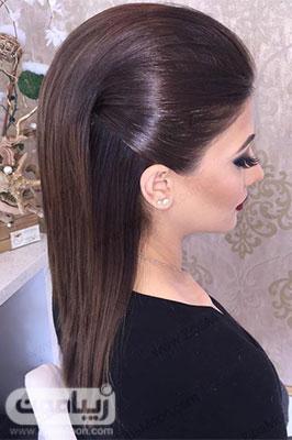 مدل مو باز ساده و فوق العاده شیک و جدید دخترانه