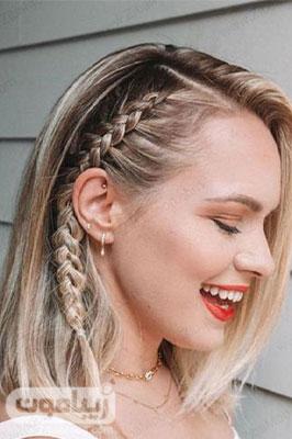 مدل مو باز و ساده دخترانه برای موهای کوتاه