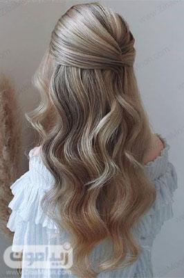 مدل مو باز دخترانه فوق العاده شیک و ساده