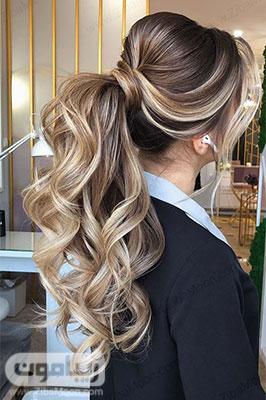 مدل مو دم اسبی فر خورده پرحجم فوق العاده شیک برای عروسی
