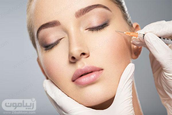 تزریق ژل و فیلر به گونه برای چاقی صورت