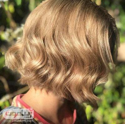 رنگ مو عسلی روی موهای کوتاه