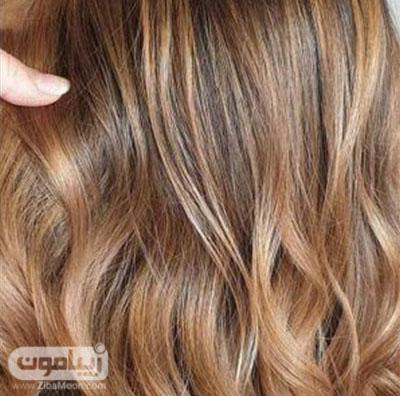 رنگ مو عسلی شکلاتی